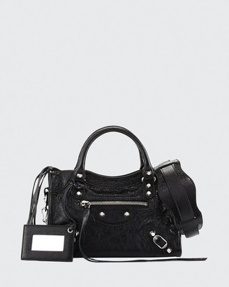 Balenciaga Classic Nickel Mini City AJ Bag, Black