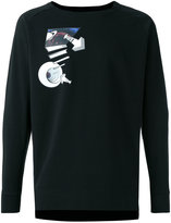 Y-3 warm hole print sweatshirt - men - Cotton - M