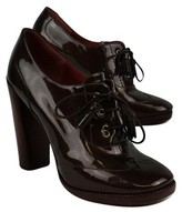 Marc by Marc Jacobs Brown Patent Leather Oxford Pumps