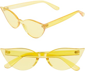 Cat Eye Rad + Refined Mono Color Sunglasses