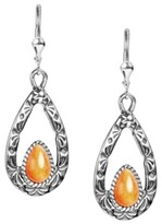 Thumbnail for your product : American West by Carolyn Pollack Sterling Silver Teardrops in Malachite, Orange Spiny Oyster, Purple Spiny Oyster and Tiger's Eye