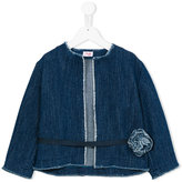 Il Gufo belted denim jacket - kids - Cotton/Polyester - 8 yrs