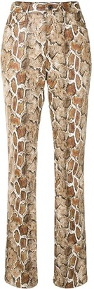 Proenza Schouler White Label Snake-Print Straight-Leg Trousers