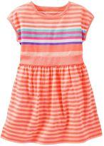 Osh Kosh Toddler Girl Drop-Shoulder Striped Dress