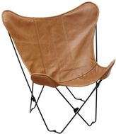 Faux-Leather Sling Butterfly Chair