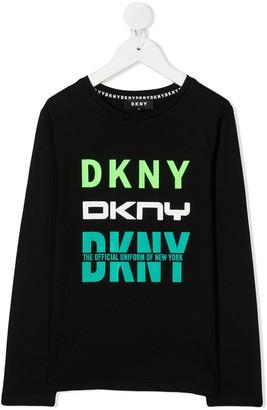 DKNY logo print T-shirt