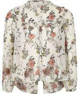 River Island Girls Cream floral ruffle blouse