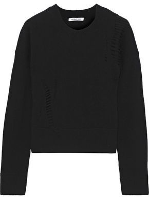 Helmut Lang Distressed Wool Sweater