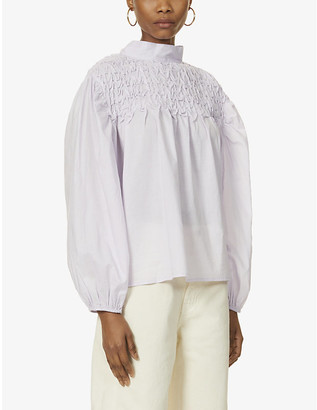 Merlette New York Paveley high-neck cotton top