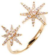Graziela Gems 18K Yellow Gold Starburst Ring with Diamonds, Size 7