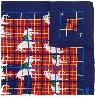 Hermes Pre-Owned Check Print Scarf