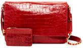 Alice + Olivia Scarlett Croc Embossed Leather Satchel