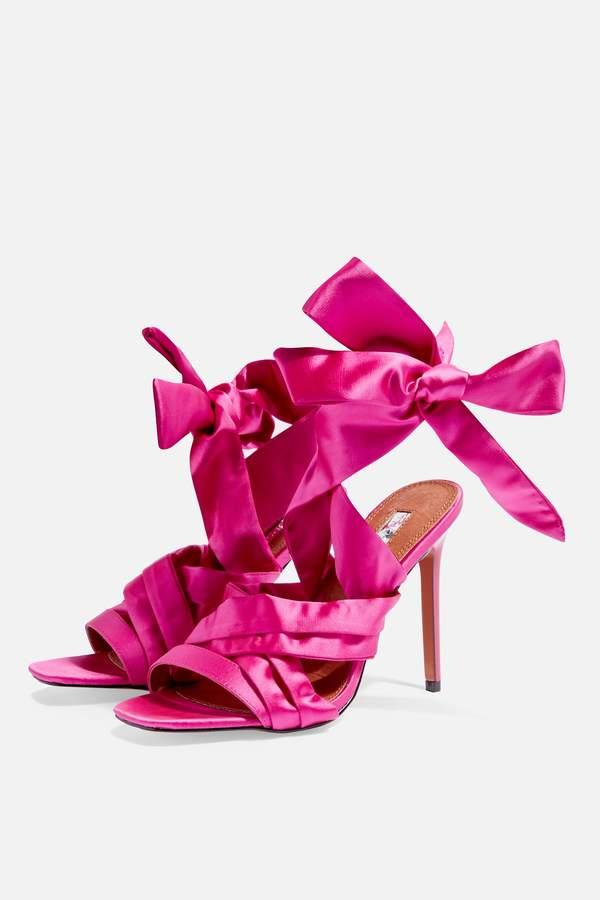 Topshop ROKA Tie Wrap Heel Sandals