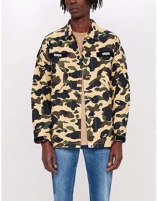 A Bathing Ape 1st camouflage tactical military cotton shirt