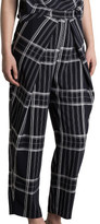Bianca Spender Midnight Check Curvature Pant