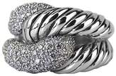David Yurman Sterling Silver Pave Rio Knot Diamond 0.851 Ring Size 7 New Box 5r