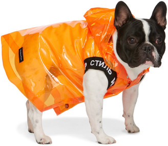 Heron Preston Orange VIP Edition Dog Raincoat
