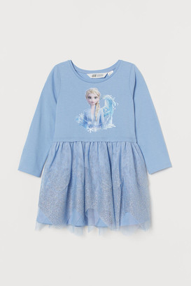 H&M Dress with Tulle Skirt - Blue