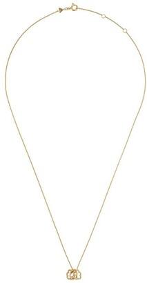 ALIITA 9kt yellow gold mini Trio Nubecita necklace