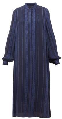 ZEUS + DIONE Hera Silk-blend Crepe Midi Dress - Womens - Navy