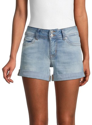 Hudson Ruby Rolled-Cuff Denim Shorts