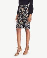 Ann Taylor Curvy Garden Jacquard Pencil Skirt