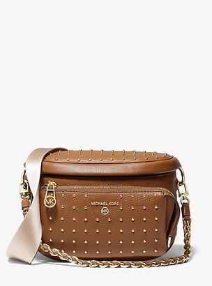 MICHAEL Michael Kors MK Slater Medium Studded Pebbled Leather Sling Pack - Luggage Brown - Michael Kors