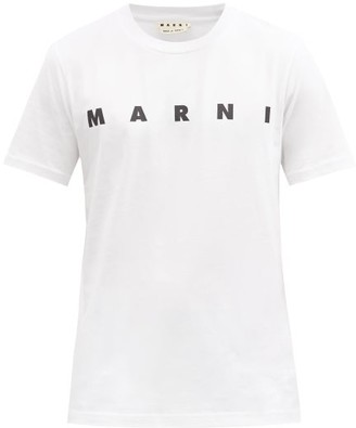 Marni Logo-print Cotton-jersey T-shirt - White