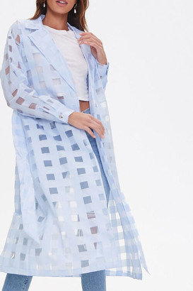 Forever 21 Shadow Checkered Duster Jacket