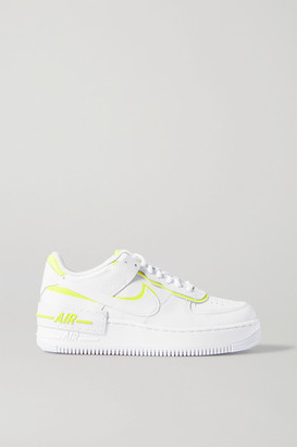 Nike Air Force 1 Shadow Neon Leather Sneakers - White