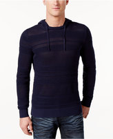 INC International Concepts Men's Open Knit Hooded Sweater, Only at Macy's
