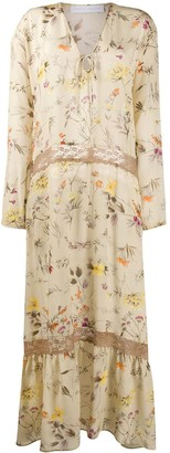 Societe Anonyme floral-print silk dress