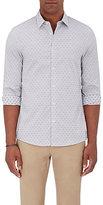 Michael Kors Men's Dot-Weave Slim-Fit Shirt-GREY