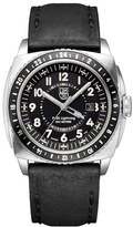 Luminox Men's 'P-38 Lightning Gmt' Leather Strap Watch, 44Mm