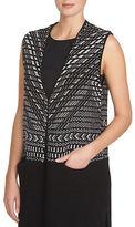 1 STATE Sleeveless Jacquard Cardy Vest
