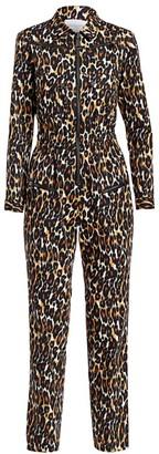 Carolina Ritzler Leopard Print Cargo Jumpsuit