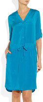 DKNY Stretch-silk crepe de chine shirt dress