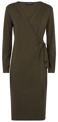 James Lakeland Wrap V-neck Long Sleeve Dress