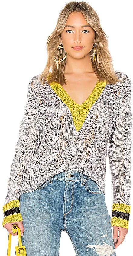 Rag & Bone Emma Cropped V Neck Sweater