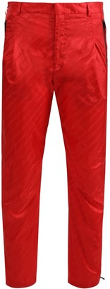 Givenchy Tonal Logo Print Trousers Vermillion Red