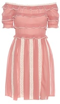 RED Valentino Off-the-shoulder Silk Dress