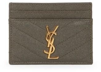 Saint Laurent Monogram Matelasse Leather Card Case