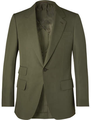 Kingsman Green Slim-Fit Cotton-Twill Suit Jacket