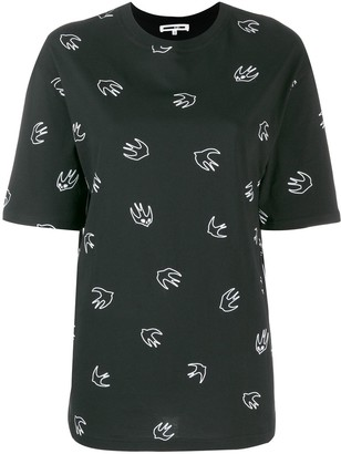 McQ Swallow embroidery T-shirt