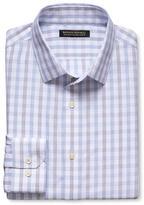 Banana Republic Grant-Fit Non-Iron Purple Plaid Shirt