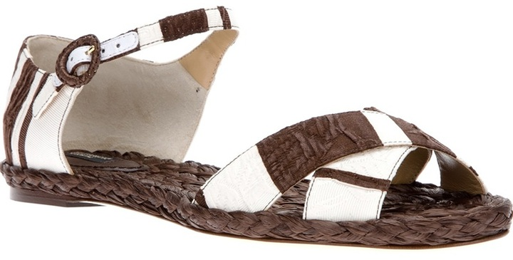 Dolce & Gabbana striped sandal