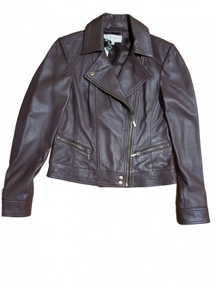 Hobbs Brown Leather Jacket for Women
