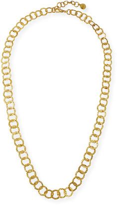 Nest Jewelry Long Hammered Circle-Chain Necklace