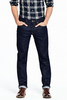 Lands' End Men's 5 Pocket Denim Jean Slim Fit-Gray Donegal Herringbone