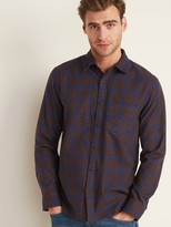 Old Navy Regular-Fit Textured-Pattern Long-Sleeve Shirt for Men
